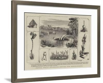 Central African Exploration, Sketches from Marutse-Mabunda--Framed Giclee Print
