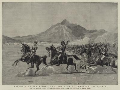 Farewell Review before Hrh the Duke of Connaught at Quetta--Framed Giclee Print
