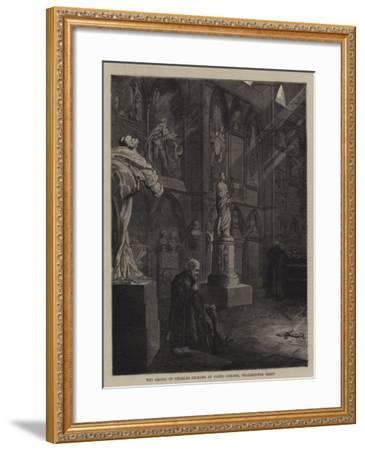 The Grave of Charles Dickens at Poets' Corner, Westminster Abbey--Framed Giclee Print