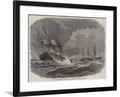 The Laconia Rescuing the Crew of the Amalia in the Bay of Biscay--Framed Giclee Print