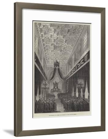 The Funeral of M Thiers, the Ceremony in Notre Dame De Lorette--Framed Giclee Print