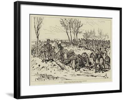 The War, a Russian Column on the March from Chotim to Liptschany--Framed Giclee Print