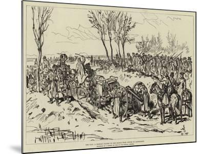 The War, a Russian Column on the March from Chotim to Liptschany--Mounted Giclee Print