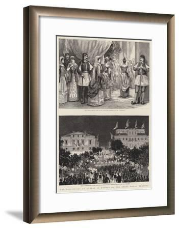 The Festivities at Athens in Honour of the Greek Royal Wedding--Framed Giclee Print