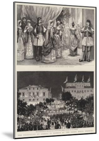 The Festivities at Athens in Honour of the Greek Royal Wedding--Mounted Giclee Print