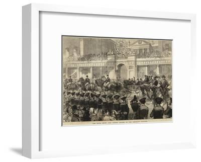 The Royal Entry into London, Sailors at the Admiralty Saluting--Framed Giclee Print