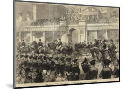The Royal Entry into London, Sailors at the Admiralty Saluting--Mounted Giclee Print