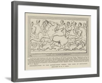 Presentation to the Government Whips, the Card of Invitation--Framed Giclee Print