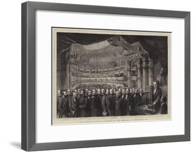 The French National Assembly in the Theatre at Versailles, 1873--Framed Giclee Print
