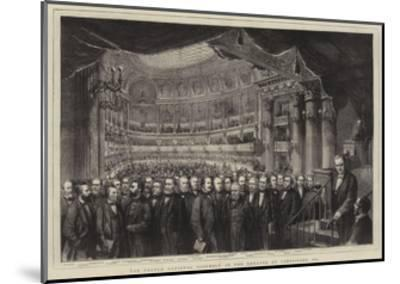 The French National Assembly in the Theatre at Versailles, 1873--Mounted Giclee Print