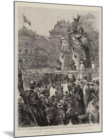 The Centenary Celebrations in Paris of the French Revolution--Mounted Giclee Print
