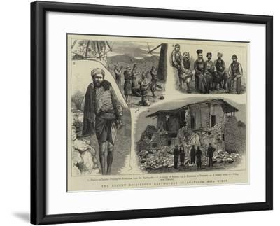 The Recent Disastrous Earthquake in Anatolia, Asia Minor--Framed Giclee Print