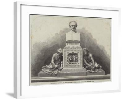 Monument to General Sir James Outram, in Westminster Abbey--Framed Giclee Print