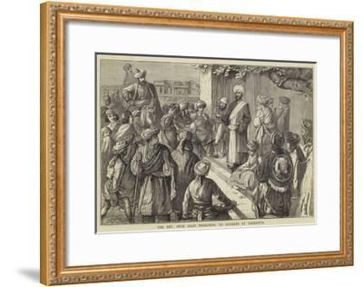 The Reverend Imam Shah Preaching to Afghans at Peshawur--Framed Giclee Print