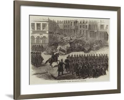 The Disturbances in Paris, the Barricade at Belleville--Framed Giclee Print