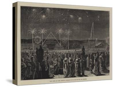 The Fete at the Crystal Palace in Honour of M De Lesseps--Stretched Canvas Print