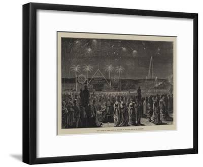 The Fete at the Crystal Palace in Honour of M De Lesseps--Framed Giclee Print