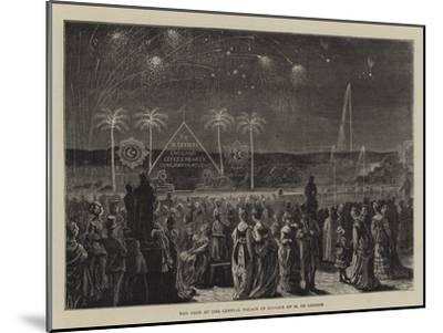 The Fete at the Crystal Palace in Honour of M De Lesseps--Mounted Giclee Print