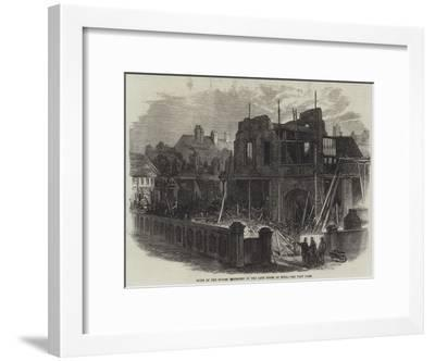 Ruins of the Houses Destroyed by the Late Storm at Hull--Framed Giclee Print