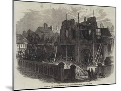 Ruins of the Houses Destroyed by the Late Storm at Hull--Mounted Giclee Print