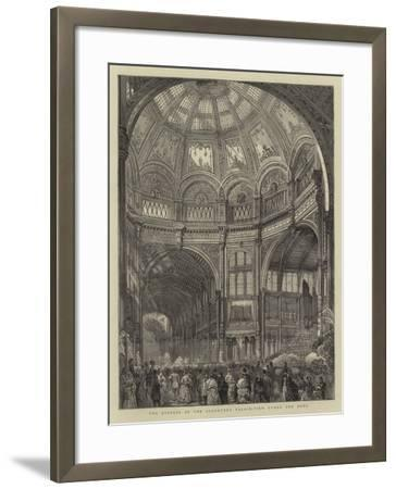 The Opening of the Alexandra Palace, View under the Dome--Framed Giclee Print