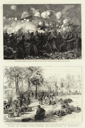 Scenes at Buenos Ayres During the Revolution in Argentina--Stretched Canvas Print