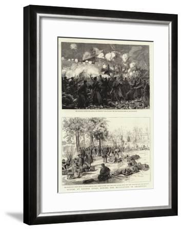 Scenes at Buenos Ayres During the Revolution in Argentina--Framed Giclee Print