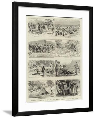 Tommy Atkins in India, on the March from Kamptee to Mhow--Framed Giclee Print