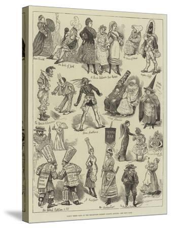 Fancy Dress Ball at the Brookwood Surrey Lunatic Asylum--Stretched Canvas Print
