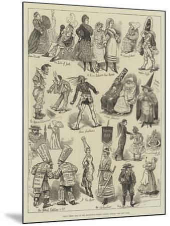 Fancy Dress Ball at the Brookwood Surrey Lunatic Asylum--Mounted Giclee Print
