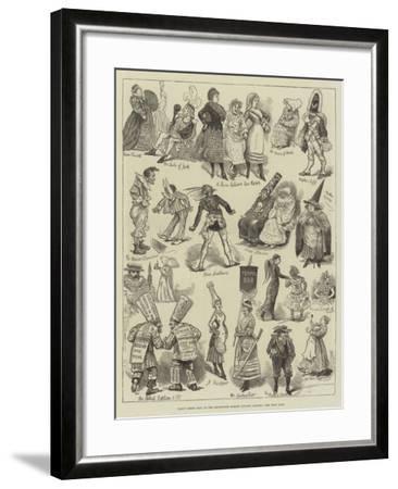 Fancy Dress Ball at the Brookwood Surrey Lunatic Asylum--Framed Giclee Print