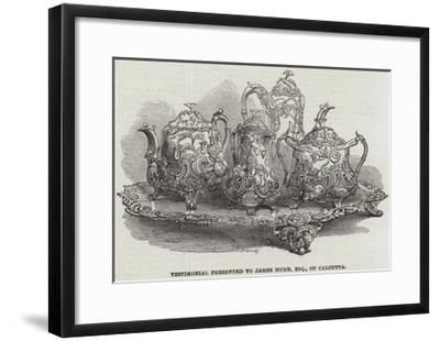 Testimonial Presented to James Hume, Esquire, of Calcutta--Framed Giclee Print