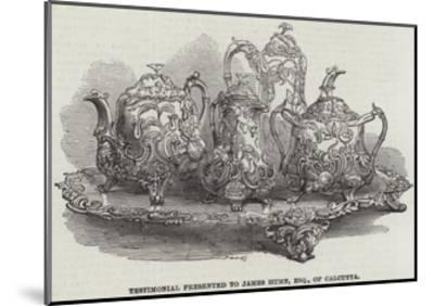 Testimonial Presented to James Hume, Esquire, of Calcutta--Mounted Giclee Print