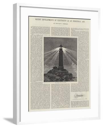 Recent Developments of Electricity as an Industrial Art--Framed Giclee Print