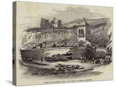 Wreck of the Brigs Mary and Hope, at Whitby, Yorkshire--Stretched Canvas Print