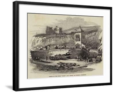Wreck of the Brigs Mary and Hope, at Whitby, Yorkshire--Framed Giclee Print