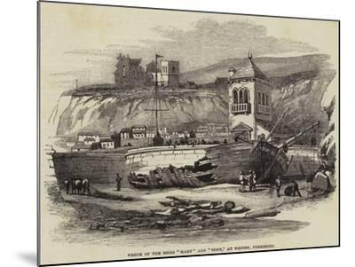 Wreck of the Brigs Mary and Hope, at Whitby, Yorkshire--Mounted Giclee Print