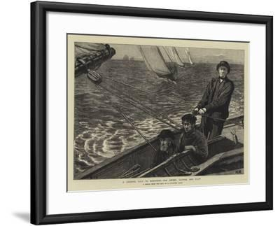 A Channel Race to Boulogne, the Owner, Skipper, and Pilot--Framed Giclee Print