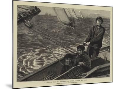 A Channel Race to Boulogne, the Owner, Skipper, and Pilot--Mounted Giclee Print