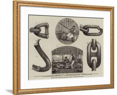Testing Chain Cables in the Test-House, Woolwich Dockyard--Framed Giclee Print