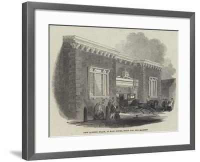 New Landing Place, at East Cowes, Built for Her Majesty--Framed Giclee Print