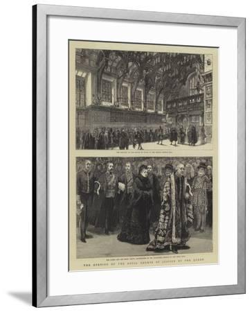 The Opening of the Royal Courts of Justice by the Queen--Framed Giclee Print