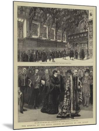 The Opening of the Royal Courts of Justice by the Queen--Mounted Giclee Print