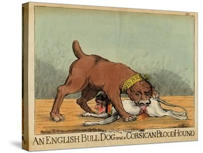 An English Bull Dog and a Corsican Blood Hound, C.1803--Stretched Canvas Print