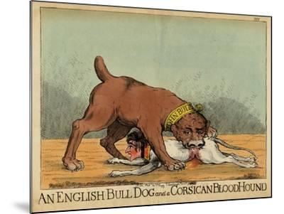 An English Bull Dog and a Corsican Blood Hound, C.1803--Mounted Giclee Print