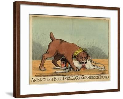 An English Bull Dog and a Corsican Blood Hound, C.1803--Framed Giclee Print