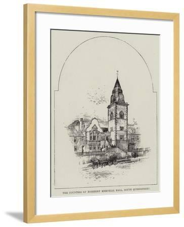 The Countess of Rosebery Memorial Hall, South Queensferry--Framed Giclee Print