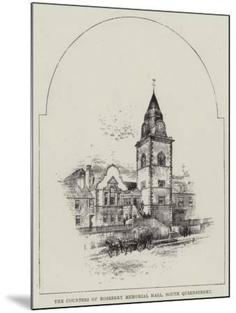 The Countess of Rosebery Memorial Hall, South Queensferry--Mounted Giclee Print