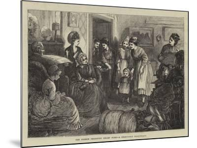 The French Peasantry Relief Fund, a Charitable Masquerade--Mounted Giclee Print