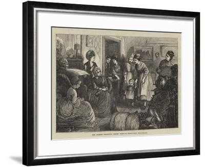 The French Peasantry Relief Fund, a Charitable Masquerade--Framed Giclee Print